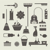 Cleaning icons vector illustration