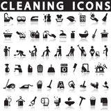 Cleaning icons royalty free illustration