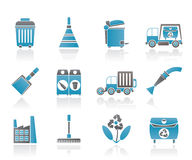 Cleaning Industry and environment Icons Stock Photography
