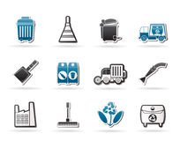 Cleaning Industry and environment Icons Royalty Free Stock Photos