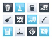 Cleaning Industry and environment Icons over color background. Vector icon set vector illustration