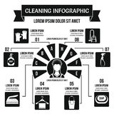 Cleaning infographic concept, simple style Royalty Free Stock Photography