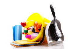 Cleaning items set Royalty Free Stock Photo
