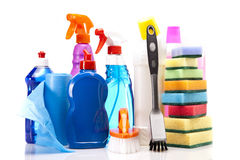 Cleaning items set isolated Stock Images
