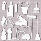 Cleaning items Royalty Free Stock Photography