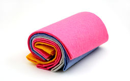 Cleaning, items,textile. Set of soft fabric for cleaning and wet cleaning stock photo