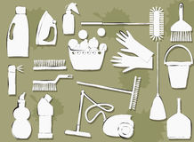 Cleaning items Stock Images