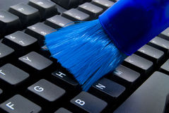 Cleaning Keyboard Royalty Free Stock Image