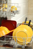 Cleaning the kitchen Royalty Free Stock Image