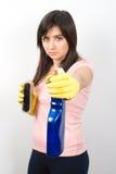 cleaning kobieta Zdjęcia Royalty Free