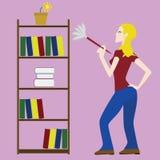 cleaning kobieta Obrazy Royalty Free