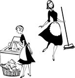 Cleaning ladies Royalty Free Stock Image