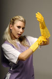 Cleaning lady Stock Photos