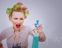 Cleaning lady royalty free stock photography