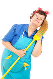 Cleaning Lady - Daydreaming Stock Image
