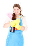 Cleaning lady Royalty Free Stock Photo