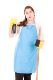 Cleaning lady Stock Image
