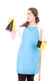 Cleaning lady Stock Images