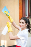 Cleaning lady at work Royalty Free Stock Photography