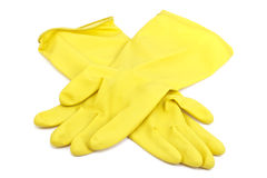 Cleaning latex gloves Royalty Free Stock Photos