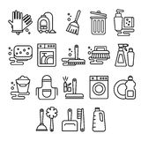 Cleaning, laundry, washing, broom, cleanliness Stock Photography