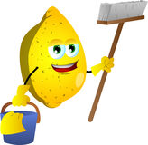 Cleaning lemon Royalty Free Stock Image