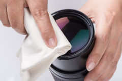 Cleaning lens Stock Image