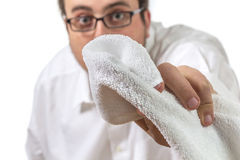 Cleaning the Lens Royalty Free Stock Photography