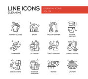 Cleaning - line design icons set Stock Images