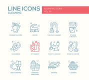 Cleaning - line design icons set Stock Image