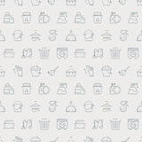 Cleaning line icon pattern set Stock Images
