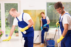 Cleaning of living room royalty free stock photography