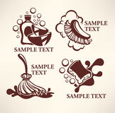 Cleaning logo Royalty Free Stock Photography