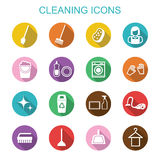 Cleaning long shadow icons Stock Images