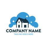 Cleaning And Maintenance Logo. With simple shape and colors, perfect for your business Stock Image