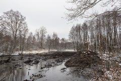 Cleaning Malashka rzeka Fotografia Stock