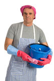 Cleaning man Stock Photo