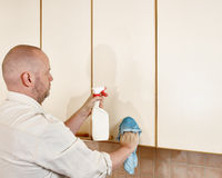 Cleaning man Stock Image