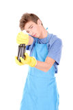 Cleaning man Stock Photography
