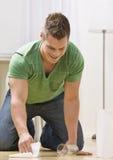 cleaning man spill Στοκ Εικόνα