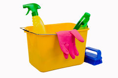 Cleaning materials Stock Image