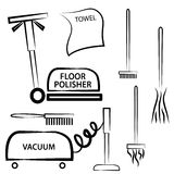Cleaning materials Royalty Free Stock Photography