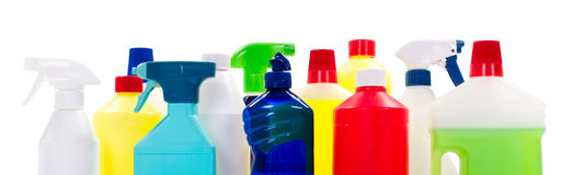 Cleaning materials Stock Images