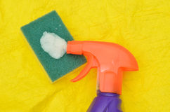 Cleaning materials Royalty Free Stock Photos