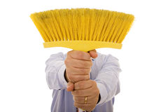 Cleaning men Stock Images