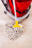 Cleaning with mop Stock Images