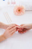Cleaning nails. Royalty Free Stock Photography