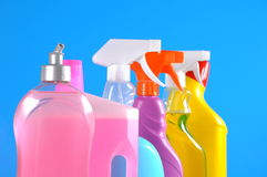 Cleaning objects on saturated background Stock Photo