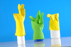 Cleaning objects on saturated background Royalty Free Stock Photos