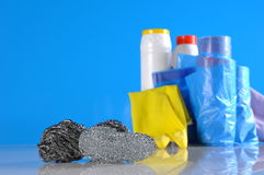 Cleaning objects on saturated background Royalty Free Stock Images
